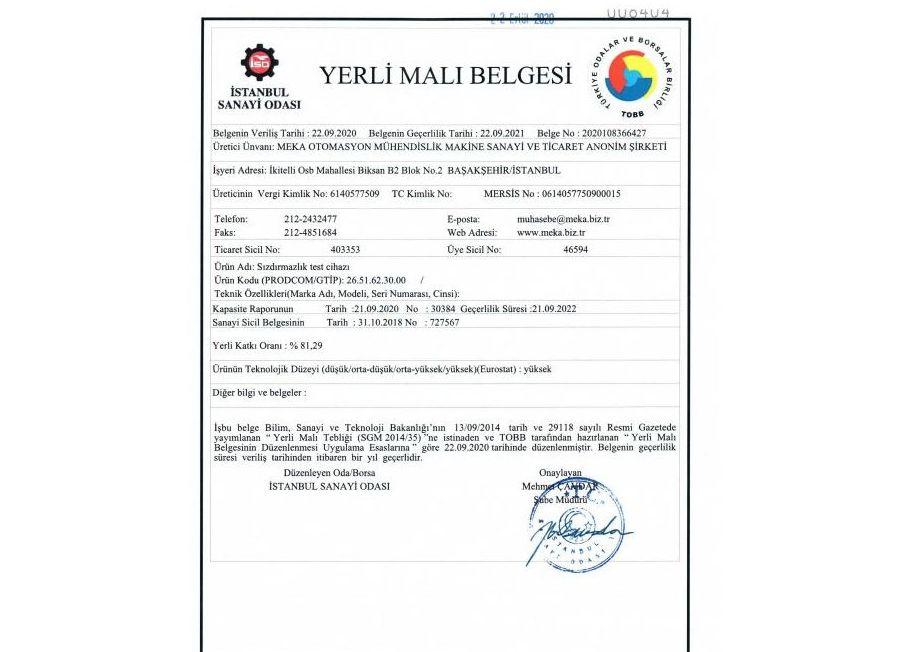 YERLİ MALI BELGEMİZ